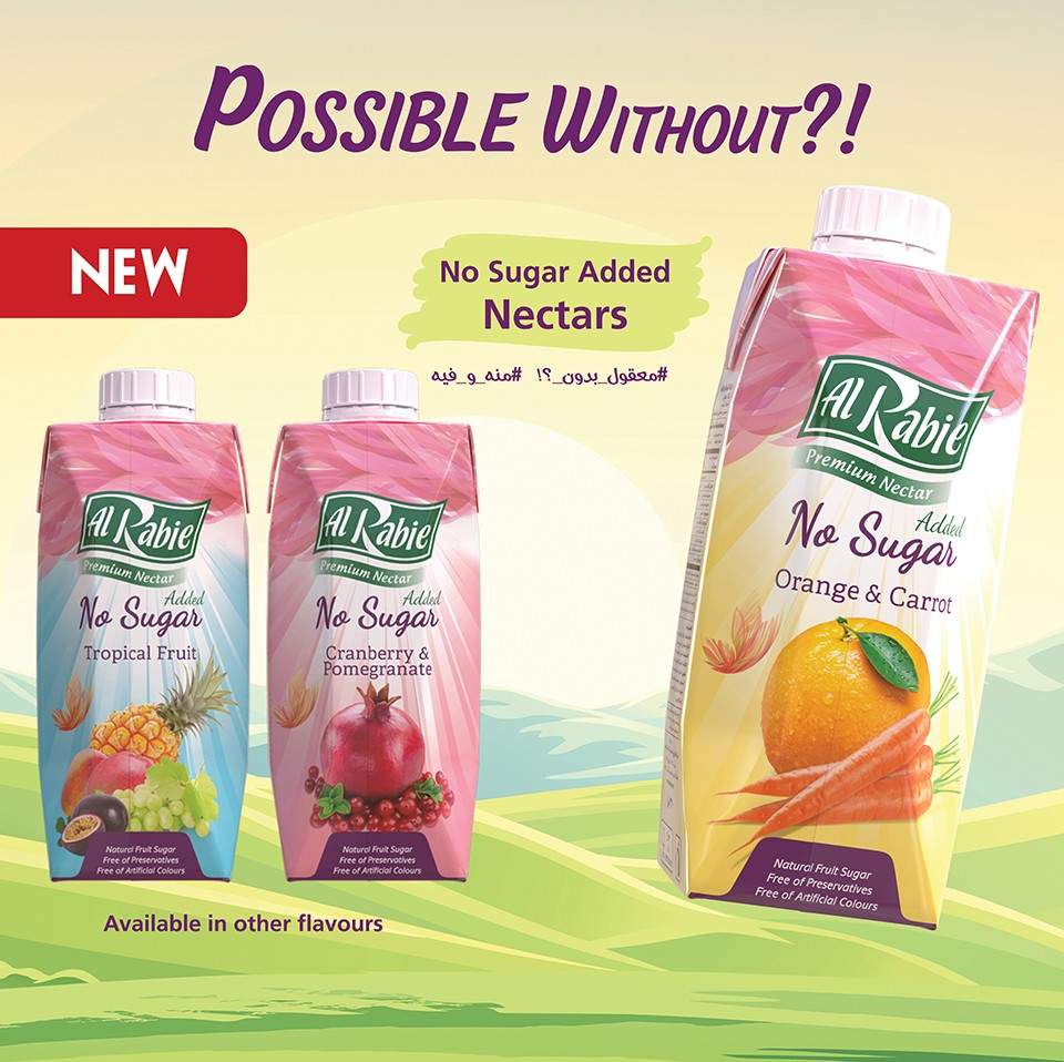 A unique addition to Al Rabie nectars family… without Added Sugar