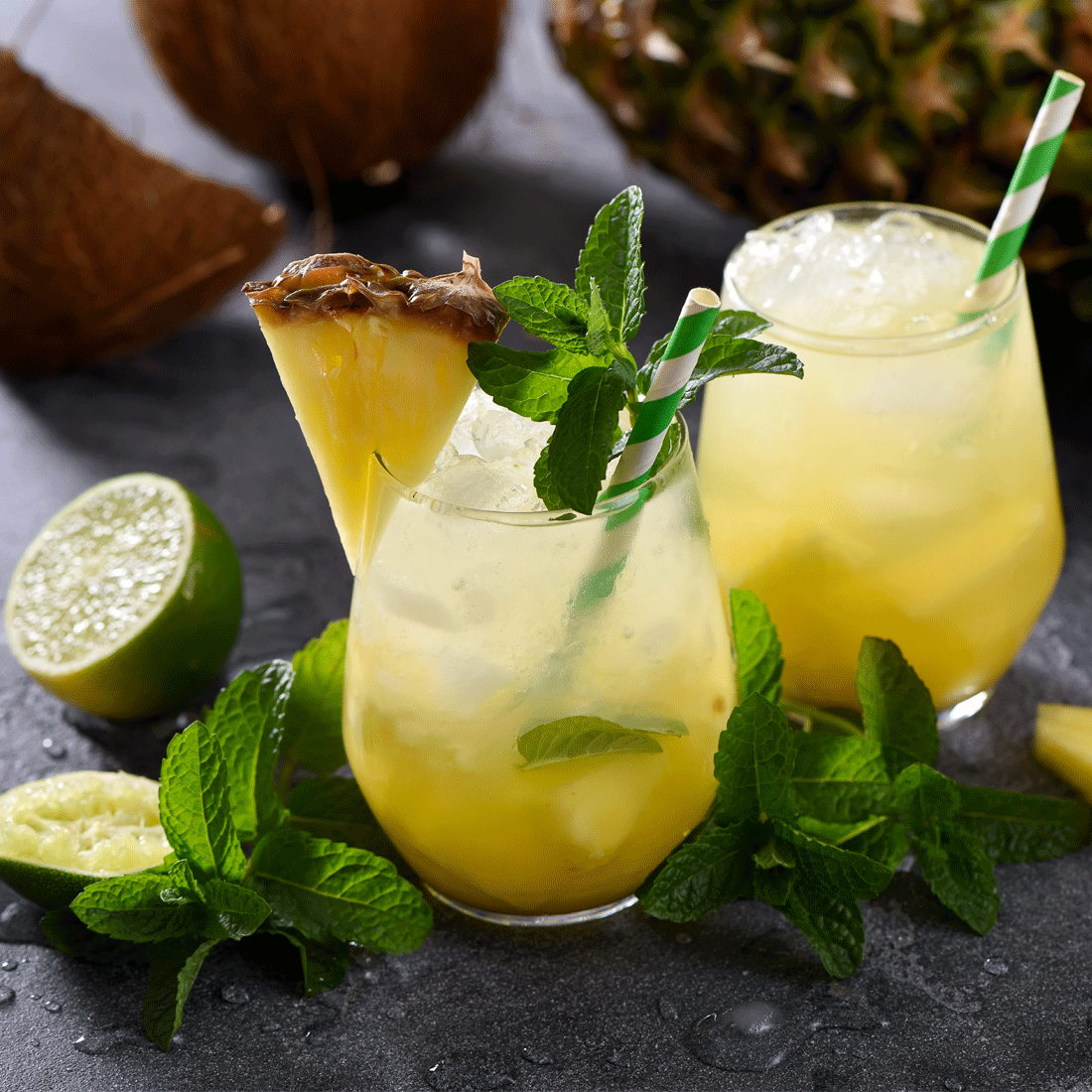 Al Rabie Pineapple Juice with Lime Ague Fresca Cocktail