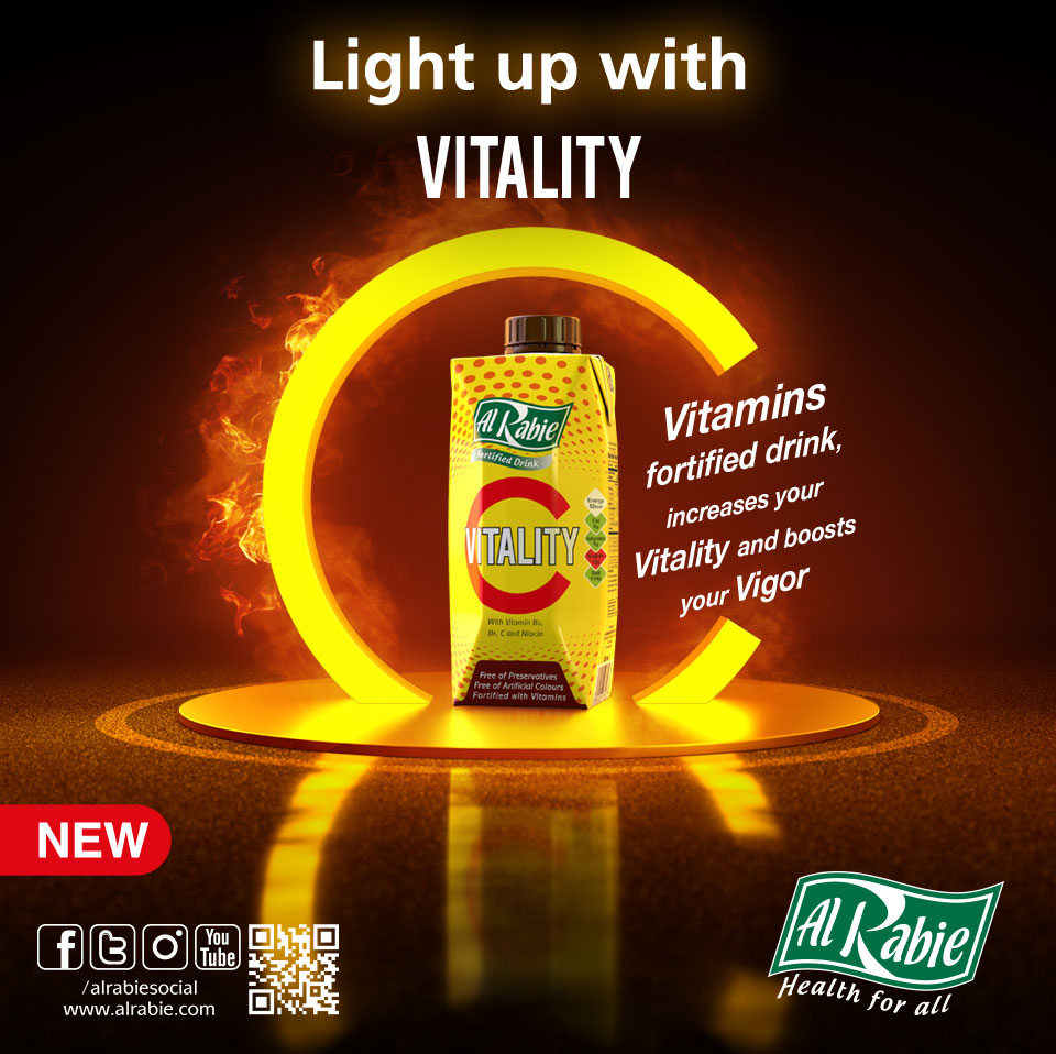 Light up with the new Vitality C Drink